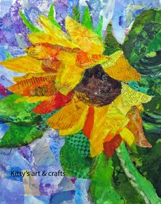 Kittys art and crafts: More sunflowers