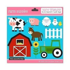 SALE  Farm Buddies Clipart  Digital Clip Art by MareeTruelove, $2.00