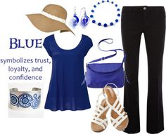 """Blue is for Trust"" by elunajewelry on Polyvore"