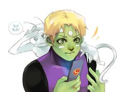 Brainiac 5 and Koko by Hephaise