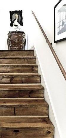 escada madeira rustica