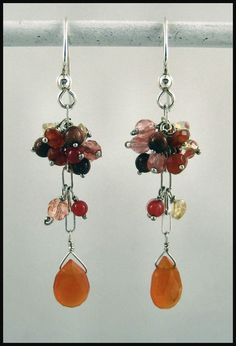 Carnelian Drop Dangle Earring by AdornmentsAndFrills on Etsy