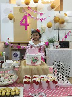 The birthday girl with her Hello Kitty zania world