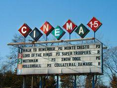 Vintage Drive-in Movie Sign