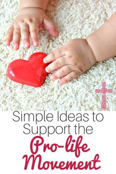 Want to support the prolife movement, but aren't sure how? Take a look at these ideas, perfect for busy moms. Catholic Books, Catholic Kids, Catholic Homeschooling, Respect Your Elders, Respect Life, 40 Days For Life, Kneeling In Prayer, American Catholic, Simple Way