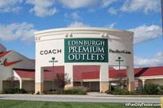 Photograph of the Edinburgh Premium Outlet Mall sign in Edinburgh, Indiana