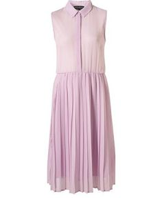 topshop pleated shirtdress in lavender #prettypastels