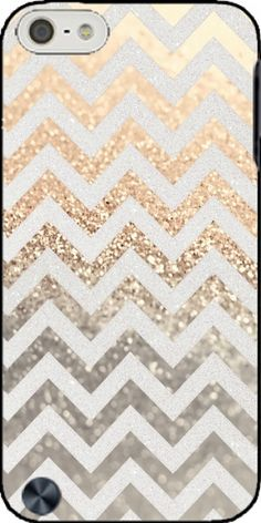 coque GATSBY GOLD CHEVRON pour Ipod Touch 5