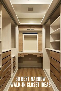 ankleidezimmer 10 ideas to have a dressing room of envy Tinkling wind chimes Article Body: W Walk In Closet Small, Walk In Closet Design, Small Closets, Dream Closets, Closet Designs, Narrow Closet, Master Closet Design, Open Closets, Wardrobe Room