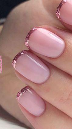 Great Ideas For Holiday Nails – Page 7690832740 – NaiLovely Elegant Nails, Classy Nails, Fancy Nails, Stylish Nails, Trendy Nails, Pink Nails, Gel Nails, Acrylic Nails, Toenails