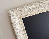 TURQUOISE CHALKBOARD Wedding Sign Kitchen Chalkboard Framed Chalk Board Wedding Decor Turquoise Vintage Blue Vintage Magnet Board. $72.00, via Etsy.