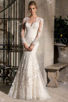 Glamorous Sweetheart Neck Applique Floor Length Wedding Dress It is 127273701, not Mori lee style 2725 | Bridalpure.com