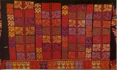 Detail of the back panel shinyar of a Sinai bedouin thob 1940s. (Palestine Costume Archive, Canberra)