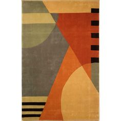 Safavieh Rodeo Drive 6 x 9 Gold Indoor Abstract Tufted Area Rug in the Rugs department at Lowes.com Indoor Outdoor Area Rugs, Rodeo, Latex, Modern Design, Wool, Abstract, China, Deep, Cotton