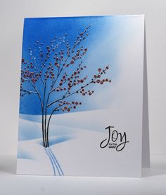 by Penny Black Designer, Heather Telford Penny Black Cards, Penny Black Stamps, Watercolor Christmas Cards, Watercolor Cards, Xmas Cards, Holiday Cards, Scrapbook Cards, Scrapbooking, Winter Cards