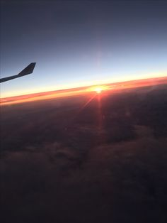 Sunset over the world!