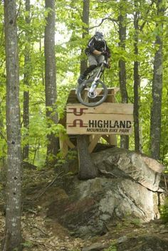 Highland Mountain Bike Park in Northfield, NH.  Mark is a great guy and the trails rock!  www.highlandmountain.com