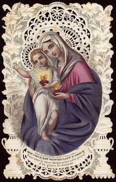 15 September - The Seven Sorrows of the Blessed Virgin Mary (Part Four) Religious Pictures, Religious Icons, Religious Art, Blessed Mother Mary, Blessed Virgin Mary, Catholic Prayers, Catholic Art, Jesus E Maria, Vintage Holy Cards