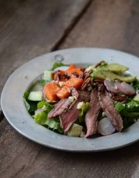 FreshTartSteph Recipe: Fall Steak Salad with Sweet Potatoes, Avocado & Maple Vinaigrette