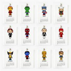 スーパーヒーロー - small - 2014年カレンダー by Loopz