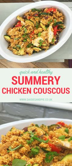 Summery Chicken Couscous, a delicious healthy family dinner recipe a perfect summer dinner idea. So easy to make and low faff, perfect for busy moms.