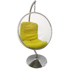 Original Bubble Chair With Indoor Stand By Eero Aanio 1960's Italy   From a unique collection of antique and modern lounge chairs at http://www.1stdibs.com/furniture/seating/lounge-chairs/