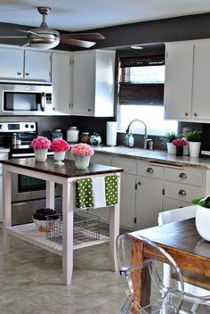 Pop of Turquoise   Stove backsplash, Stove and Kitchens