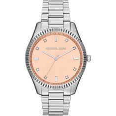 Women's Silver Color Stainless Steel Blake Three-Hand Glitz Watch - Michael Kors $195.75