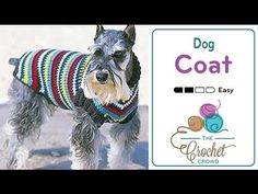 Learn how to crochet this amazing Crochet Dog Coat for 4 sizes of dogs. Using everyday yarn like Bernat Super Value, you can create a simple dog coat to give...