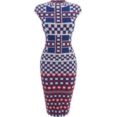 Love it!  Graphic Jacquard Knit Pencil Dress - ALEXANDER MCQUEEN