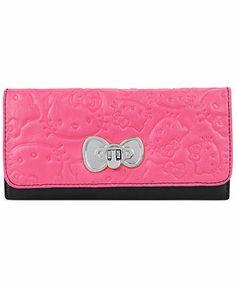 Hello Kitty Handbag, Kitty Print Wallet