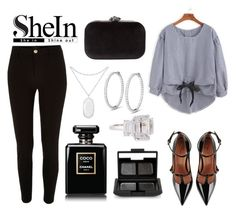 """SheIn"" by ashnamundhra ❤ liked on Polyvore featuring River Island, RED Valentino, Phase Eight, NARS Cosmetics, Fantasia by DeSerio and Kendra Scott"