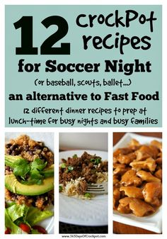 12 CrockPot Recipes for Soccer Night (a solution, besides fast food, for busy parents and busy kids!)