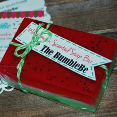 Order's Up! Watermelon scented watermelon soap bar! 25% off during the summer sale, give the perfect summer gift! 🍉 ❤