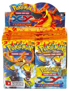 Pokemon TCG XY Flashfire 10-Card Booster Packs Lot of 25 Packs Factory Sealed #Pokemon