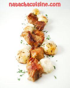 Natachacuisine : Le blog cuisine à DEVORER des Yeux: Sauté de veau au thym et sa purée de céleri à la v...
