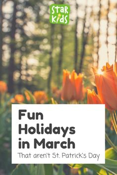 Fun and Off The Wall Holidays In March to celebrate with your kids!