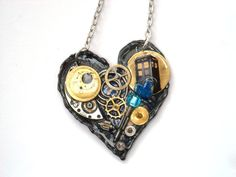 """Doctor Who Necklace """"Gallifreyan Dream Machine"""" by TimeMachineJewelry"""