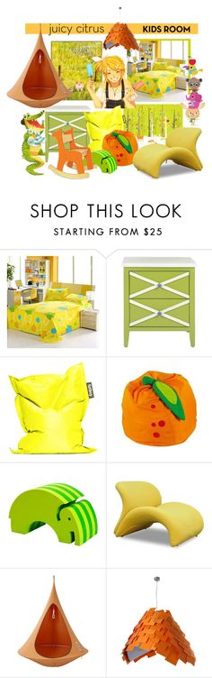 """""""Happy Kids Room"""" by hellodollface ❤ liked on Polyvore featuring interior, interiors, interior design, home, home decor, interior decorating, Poste, Safavieh, Fatboy and bObles"""