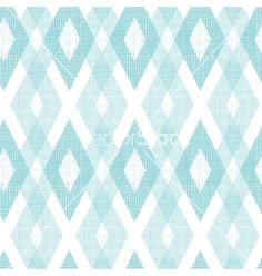 Pastel blue fabric ikat diamond seamless pattern vector - by Oksancia on VectorStock®