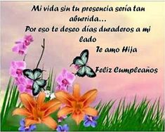 Imagenes de cumpleanos para una hija especial Birthday Messages, Home Interior, Margarita, Cards, Amelia, Facebook, Vestidos, Cute Birthday Cards, Birthday Cards For Sister