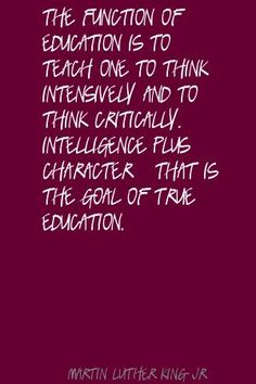 Exactly and I am not sure where standardized tests fit in here.