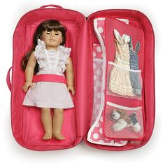 Badger Basket Doll Travel Case with Bed and Bedding