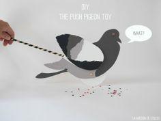 The push Pigeon toy by La maison de Loulou