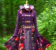 Custom Hussar corset style sweater Coat for Elly by amberstudios Sweater Coats, Sweater Jacket, Wool Sweaters, Victorian Coat, Mode Steampunk, Be Design, Military Fashion, Military Style, Belted Coat