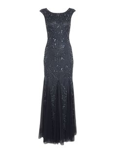Adrianna Papell Cap sleeve beaded dress