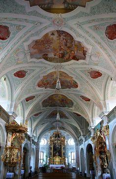 Klosterkirche Au am Inn, Innenraum - Kloster Au am Inn - Wikipedia