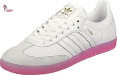 adidas Samba, Sneakers Basses Femme, Blanc (Footwear White/Footwear White/Easy Pink), 38 2/3 EU - Chaussures adidas (*Partner-Link)