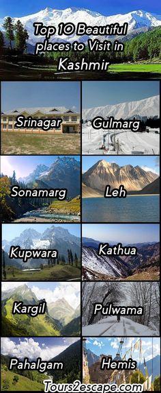 10 Beautiful places to Visit in Kashmir - Tours 2 Escape
