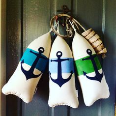 Maine Lobster Buoy Pillow.Anchor pillow.Anchor by CobaltSkyStudio